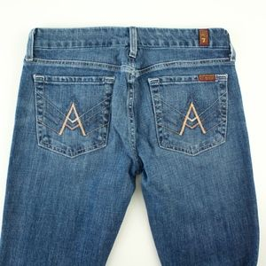 """7 for all Mankind """"A"""" Pocket cropped Jeans Size 27"""